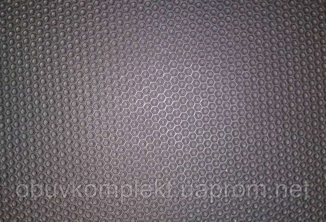 """Резина подметочная листовая эластичная  для обуви """"Кружки"""" 340*720*2.7 цвет черный"""