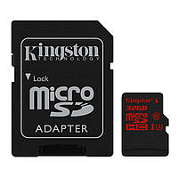 MicroSDHC 32GB Kingston Class 10 UHS-I U3 + SD-adapter (SDCA3/32GB)