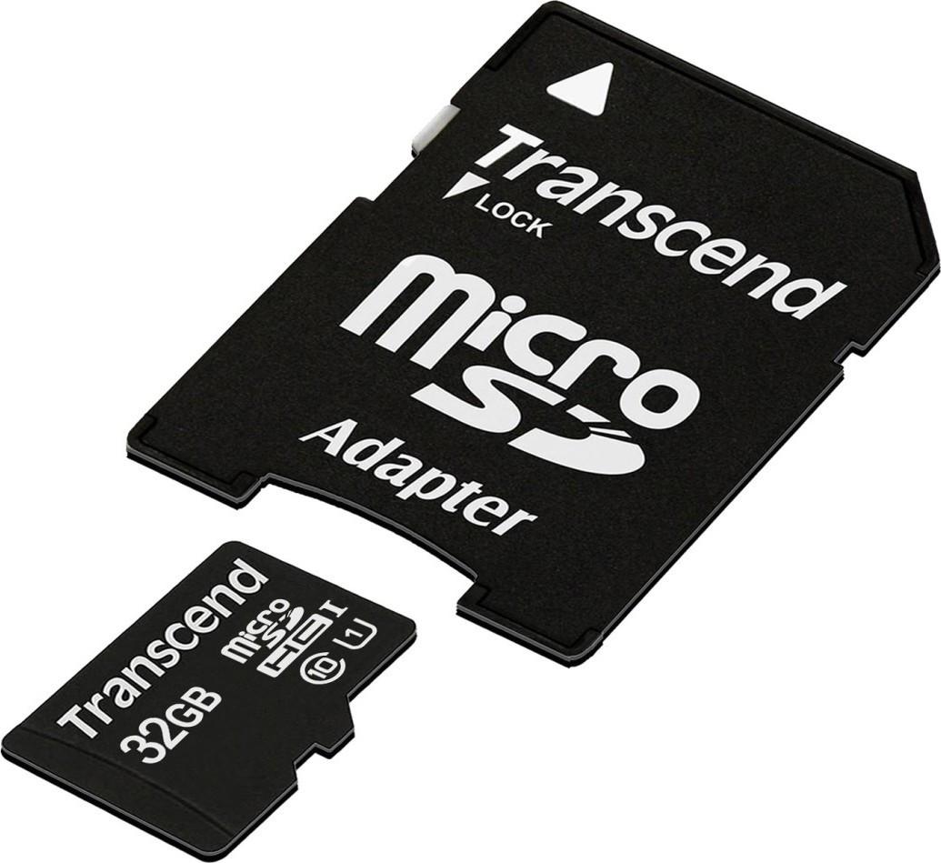 Карта памяти Transcend 32Gb microSDHC UHS-I (TS32GUSDU1)