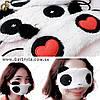 """Маска для сна - """"Panda"""" - модель с сердечками"""