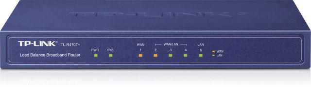 Маршрутизатор TP-Link TL-R470T+_грн с балансировкой нагрузки(1x Lan, 1xWan, 3xLan/Wan)