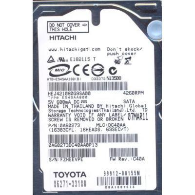 "Жесткий диск 2.5""  60GB Hitachi (HEJ421080G9AT00)"