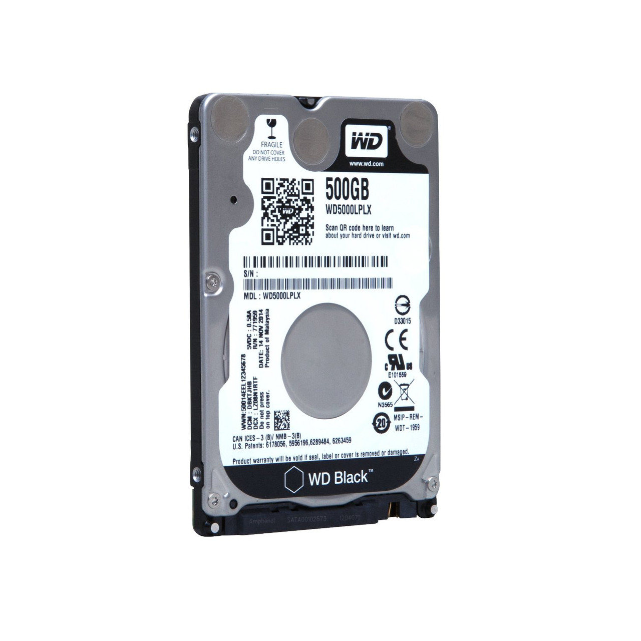 "HDD 2.5"" SATA  500Gb WD, 32Mb, 7200rpm, Black (WD5000LPLX)"
