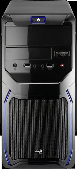 Корпус AEROCOOL  PGS QS 183 Advance  (Blue) (4713105956436) + БП Aerocool VX-550 550W