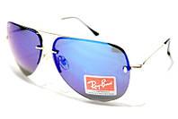 Очки Ray Ban Aviator 007 С2 фиолетовые зеркальные капельки с золотистыми дужками SM  (реплика)