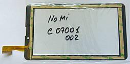 "Nomi c07001 с07002 CZY6948A01-FPC сенсор тачскрін чорний 184*104mm 30pin 7"""