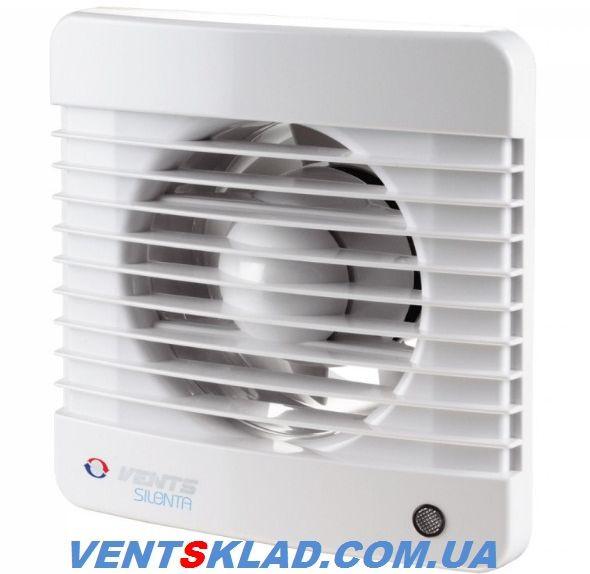 Бесшумный вытяжной вентилятор Вентс 150 Силента-МТ, вытяжной с таймером