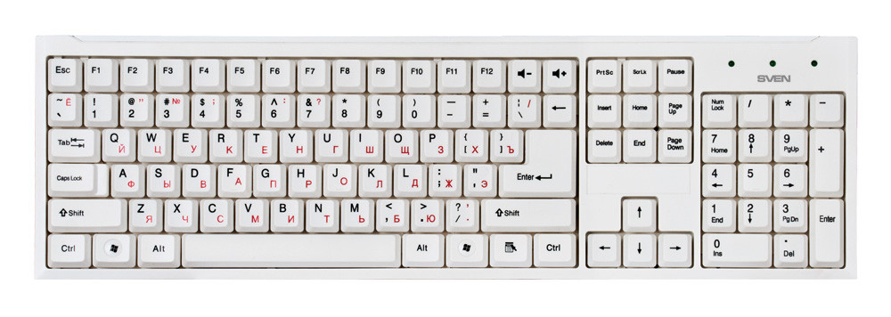 Комплект (клавиатура, мышь) SVEN Standard 310 Combo USB White DDP