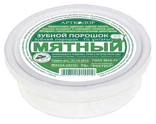 АРТКОЛОР Зубной порошок Мятный 75г (5344) , фото 2