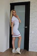 Платье женское спортивное с коротким рукавом - Белое