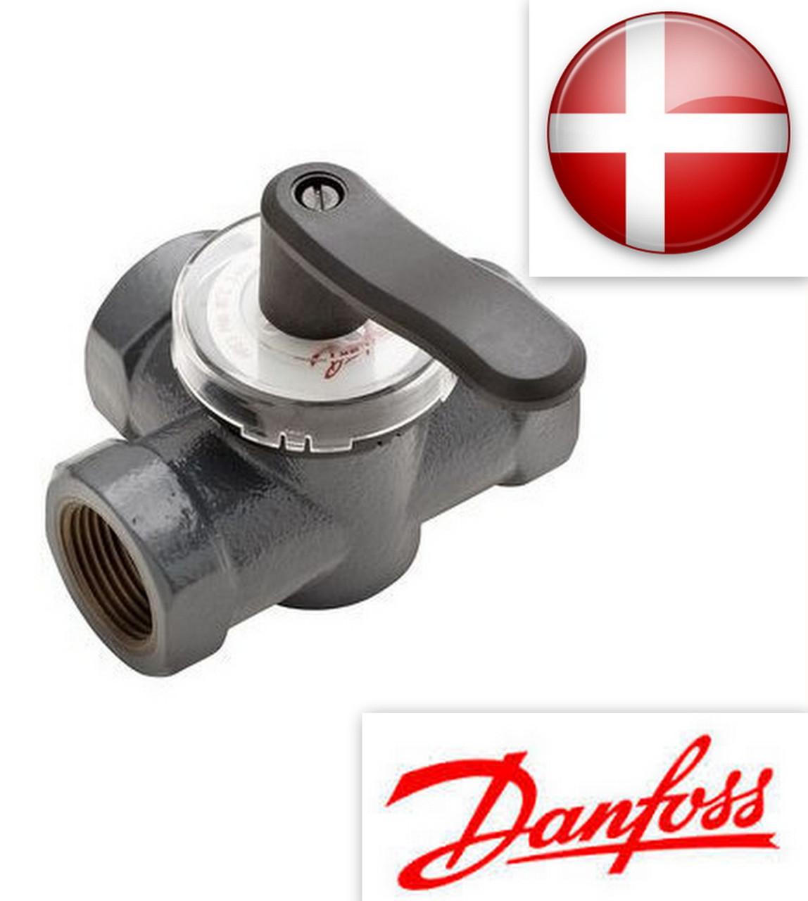 Клапан поворотный регулирующий (трехходовой) Ду 20 HRE 3 Kvs 6.3 PN 6 Danfoss