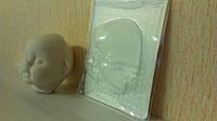 Пластиковая маска № 1.3 ( размер 110*81 мм)  – основа для лица текстильной куклы, рост 39 см