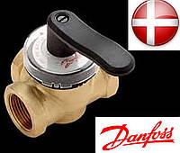 Клапан поворотный регулирующий поворотный (трехходовой) Ду 15 HRE 3 Kvs 1 PN 10 Danfoss