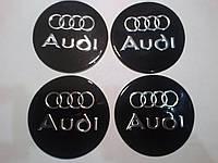Наклейка на колпаки AUDI диаметр 90 мм