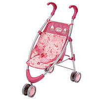 Коляска-трость для кукол Baby Annabell, розовая с барашками  794470, фото 1