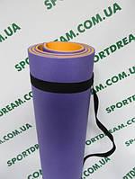 Коврик для фитнеса двухслойный Tourist Profi 8 мм
