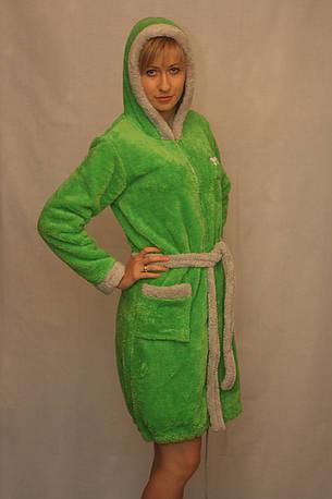 Махровый халат на молнии, фото 2