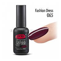 Гель лак PNB Fashion Dress темно-вишневый с легким микроблеском, 8 мл.
