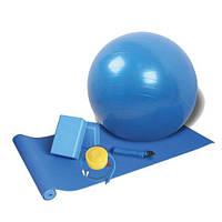 Набор для йоги YOGA SET (коврик для йоги, фитбол, насос, 2 йога-блока, ремень)