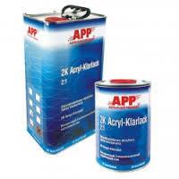 Двухкомпонентный акриловый автомобильный лак APP 2K Acryl Klarlack 2:1 (1л) + отвердитель Harter LHN (0,5л)