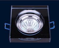Cветильник точечный встраиваемый Levistella 705168 чёрный под лампу MR16