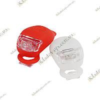 Маячок, фонарик для велосипеда (белый и красный) - 2шт