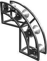 Ролик кабельный угловой ACR 4/125 4 x d 125/60 x 150 мм