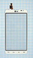 Тачскрин сенсорное стекло для LG D680 G Pro Lite white