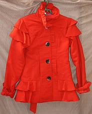 Пальто подросток Рюша, фото 2