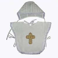 Пелерина для крещения с чепчиком Миткаль р.56-68