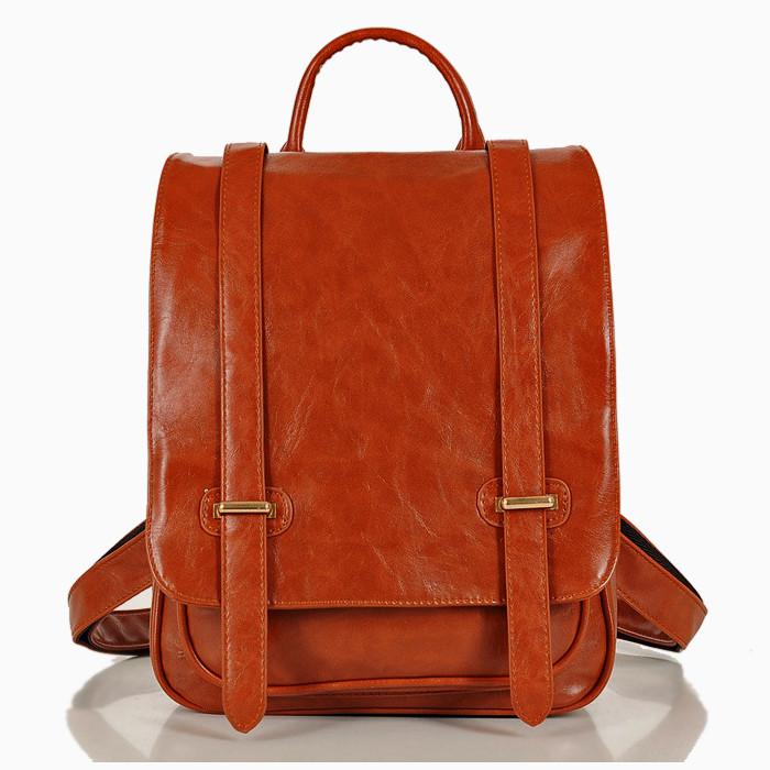 b17a05e29908 Кожаный женский рюкзак-портфель на две шлейки - Интернет-магазин Kerala.com.