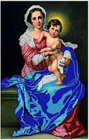 Схема для вышивания бисером Мадонна с младенцем КМИ 2002