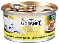 Консервы для кошек GOURMET GOLD (Гурмет Голд) кролик по-французски, 85 гр
