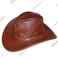Ковбойская шляпа, кожзам р-р 54-59, фото 1