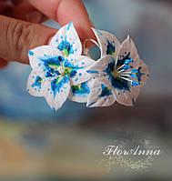 """Серьги """"Синие лилии"""", фото 1"""