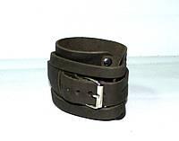 Напульсник кожаный фиксатор размер L, цвет коричневый