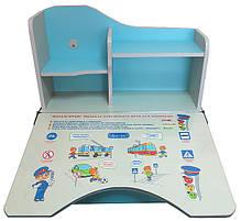 Детская парта со стулом Bambi HB2071 UK-04-7 с полочками, фото 2