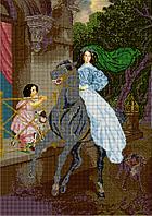 Схема для вышивки бисером Всадница по картине Брюлова КМР 2121 (Код: КМР 2121)