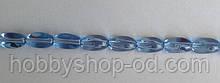 Намистина Овал кручений колір блакитний 6*9 мм
