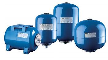 Гидроаккумулятор вертикальный 400L DE junior Reflex (Синий) 10 бар