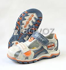 Босоножки, сандалии для мальчика бежевые кожа Clibee 30р.
