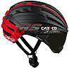Велошлем с визором Casco SPEEDairo RS black-red (MD)