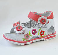 Босоножки сандалии для девочки розовые Kellaifeng 25р.