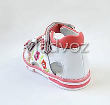 Детские босоножки сандалии для девочки розовые Kellaifeng 23р., фото 3