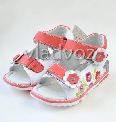 Детские босоножки сандалии для девочки розовые Kellaifeng 23р., фото 2