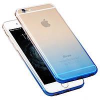 Чехол Hoco Black Series Gradient TPU для iPhone 6/6S синий, фото 1