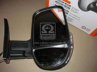 Зеркало боковое ГАЗ 3302 нового образца с указателем поворота правое черное, глянец .