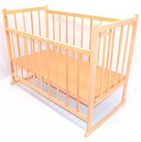 Детская деревянная кроватка-качалка