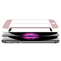 Защитное стекло Rock (2.5D) с изогнутыми краями для Iphone 6/6S (кольцо для камеры)
