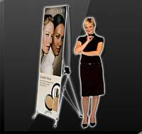 ПАУК Мобильный стенд Х-баннер 60x160 см